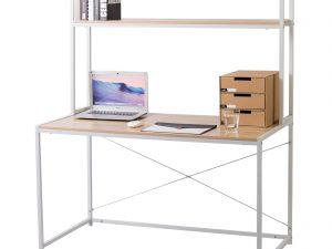 bureau informatique avec étagère