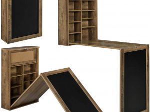 bureau pliable mural bois naturel